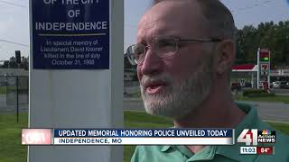 Rotary Club of Independence rededicates police memorial