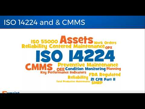 Best Practices Webinar: ISO 14224 - Considerations for CMMS