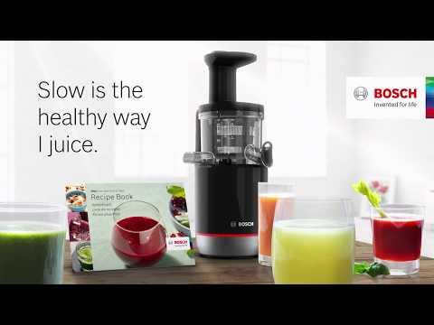 VitaExtract Slow Juicer från Bosch. Långsamt är bäst.