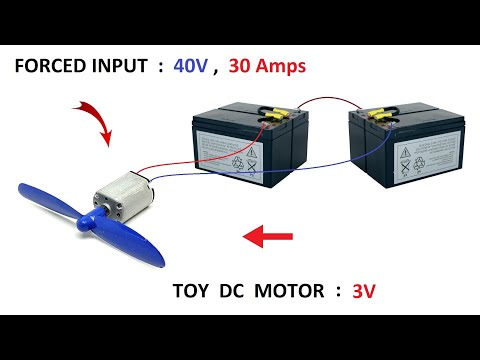 30,000 RPM - 3v DC Motor FORCED at 40v 30 Amps High RPM | CAN IT FLY ?