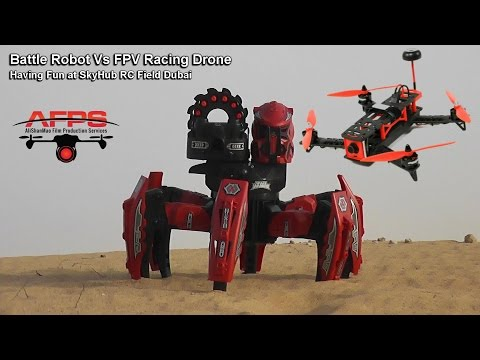 Battle Robot Vs FPV Racing Drone - UCsFctXdFnbeoKpLefdEloEQ