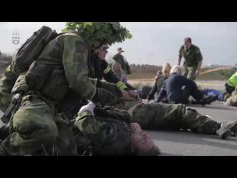 Civil och militär samverkan vid masskadeövning