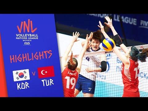 Korea vs. Turkey - Game Highlights Women  Week 1   Volleyball Nations League 2019