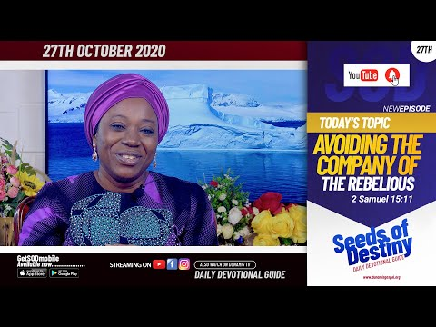 Dr Becky Paul-Enenche - SEEDS OF DESTINY - TUESDAY OCTOBER 27, 2020