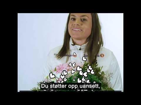 Heidi Weng gir bort blomster