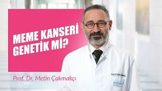 Prof. Dr. Metin Çakmakçı - Meme kanseri genetik mi?
