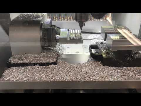 DATRON neo with 4th Axis Machining Aluminum