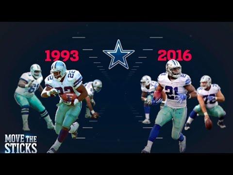 Ezekiel Elliott or Emmitt Smith: Which Cowboys O-Line was Better? | NFL | Move the Sticks