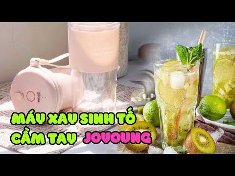 Làm Soda Kiwi Thanh Mát Với Máy Xay Cầm Tay Mini JoYoung | #Shorts