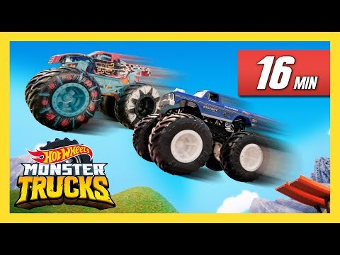 Ultimate Monster Trucks Challenge! | Monster Trucks Island | Hot Wheels