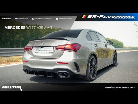 Mercedes W177 A35 AMG / Muffler delete *sound clip* / MILLTEK exhaust / By BR-Performance