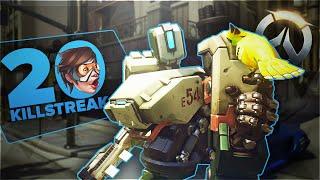 video : Diabl0x9 Overwatch - 20 Killstreak Bastion ?! - PC Ultra settings 1080@60 en vidéo