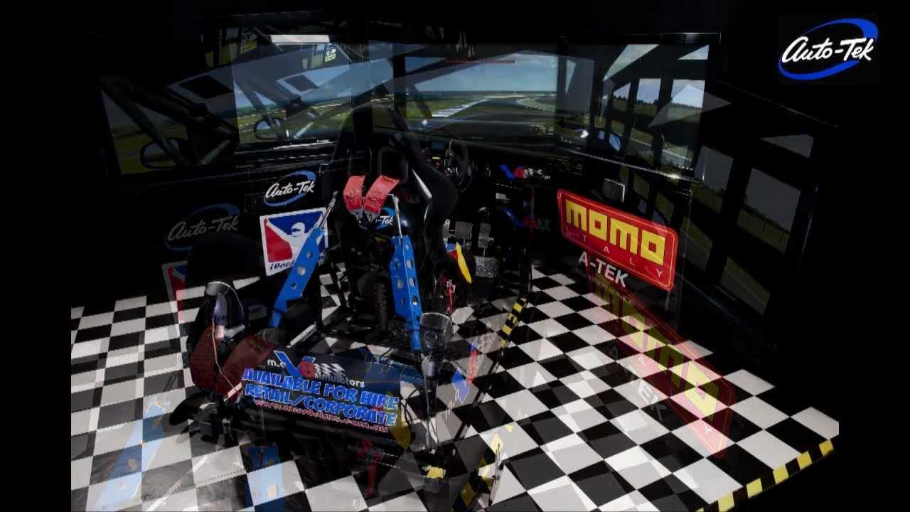 V8 Supercar Simulator in Action