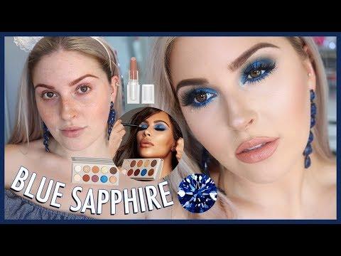 KKW x MARIO COLLECTION ? Sapphire Blue Smokey Eye Makeup Tutorial!