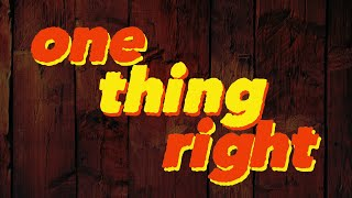 Marshmello x Kane Brown - One Thing Right (Official Lyric Video)
