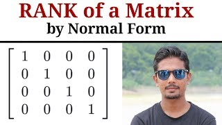 Rank Of Matrix | Normal Form | In Hindi