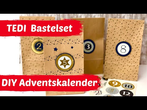 DIY--Adventskalender selber basteln--Adventskalender Bastelpackung von TEDI
