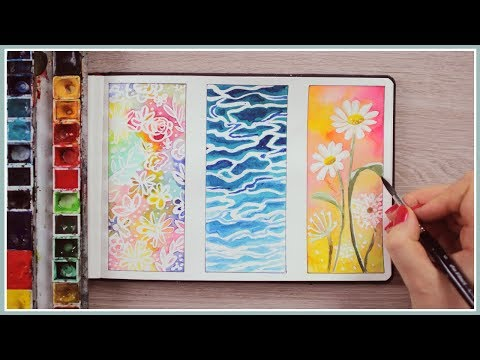 Watercolor Painting Ideas for Beginners | Masking Fluid Technique | Art Journal Thursday Ep. 42