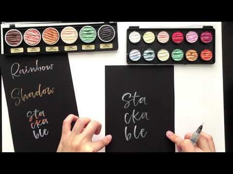 3 Blending Effects using Metallic Watercolors