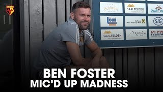 BRILLIANT BEN FOSTER FUNKY FRIDAY RAP AND MIC'D UP MADNESS DURING AJAX 🤣