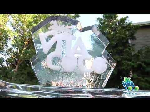 Vita Coco Ice Sculpture by PDX Ice at Best of Portland