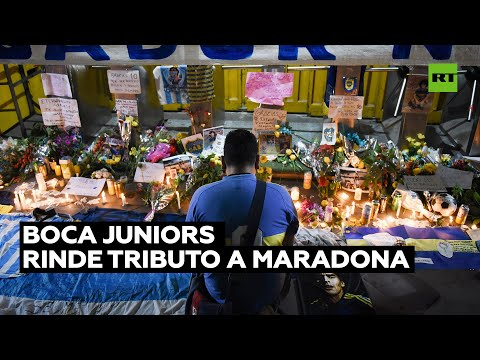 Boca Juniors rinde tributo a Maradona