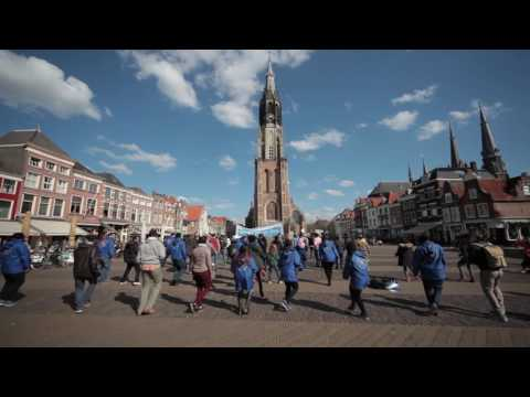 Flash mob at Delft Market Square