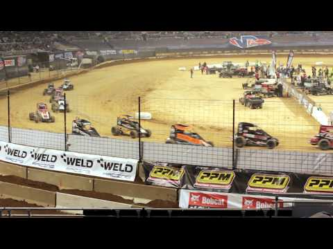 30 Lap Feature  Race Winner: Chris Bell 2nd: Shane Golobic 3rd: Rico Abreu  #DIRTINDECEMBER - dirt track racing video image