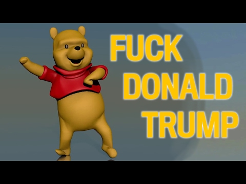 Winnie the Pooh dancing to Fuck Donald Trump
