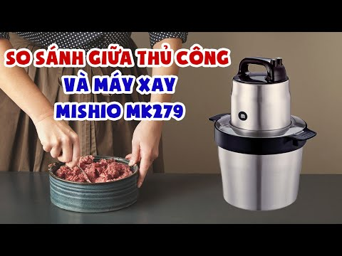 So Sánh Giữa Thủ Công Và Máy Xay Thịt 6L Mishio MK279 Tiện Lợi | #Shorts
