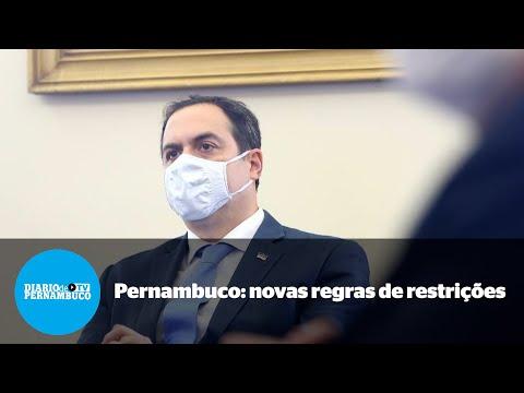 Com 93% de taxa de ocupação de UTIs, Pernambuco decreta mais restrições