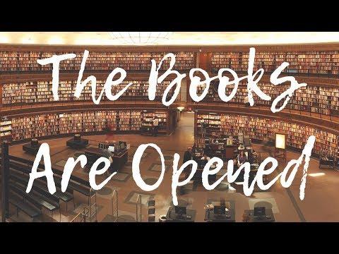 THE BOOKS ARE OPEN!