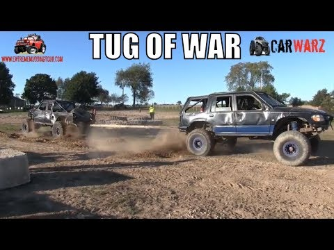 Ford Explorer Tugs This Ranger Around The Track At Minto Tuff Truck Challenge 2018