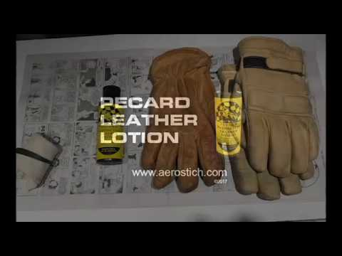 Pecard Leather Lotion Glove Application