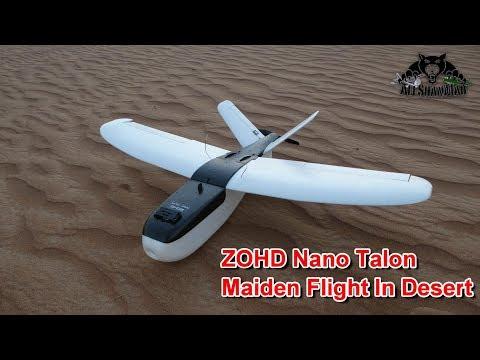 ZOHD Nano Talon V-Tail Electric RC FPV Plane Maiden Flight - UCsFctXdFnbeoKpLefdEloEQ