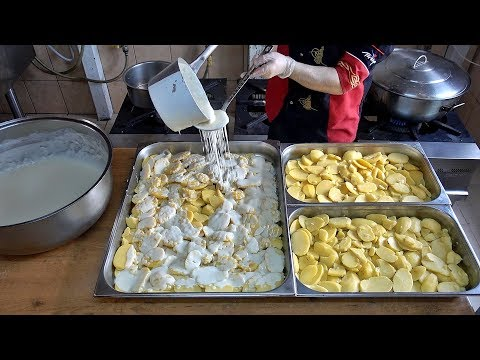 Potato Gratin Vegetarian Recipe Bechamel Sauce Cheddar Cheese Baking - UC7ow90uYlS9myGFWrmcvqIg