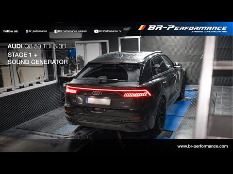 Audi Q8 50 TDI 3.0D / Stage 1 By BR-Performance / Active Sound Generator Kit
