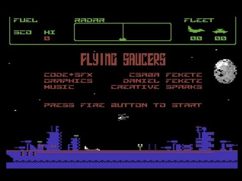 RETROJuegos Homebrew - Flying Saucers © 2020 Black Hole - Commodore 64