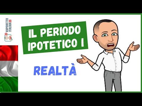 Il PERIODO IPOTETICO DELLA REALTÀ (periodo ipotetico I) | Impara l'italiano con Francesco