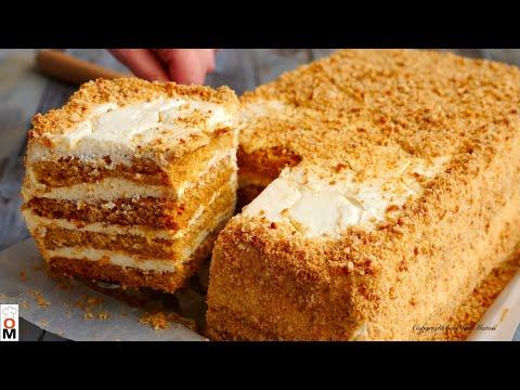 Торт «Медовик» за 30 МИНУТ Без Лишних Заморочек | Honey Cake Recipe