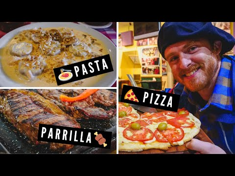 ARGENTINIAN FOOD TOUR: Eating PARRILLA + PASTA + PIZZA in Esquel, Chubut, Argentina
