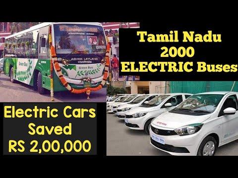 Electric Vehicles News 57: Tamil Nadu 2000 Electric Buses, Electric Car savings 2 Lakh Rupees