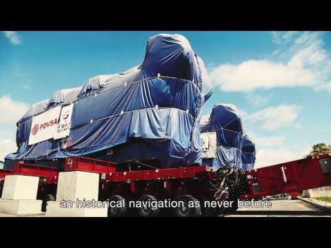 Transport and river navigation of power plant components, Venezuela