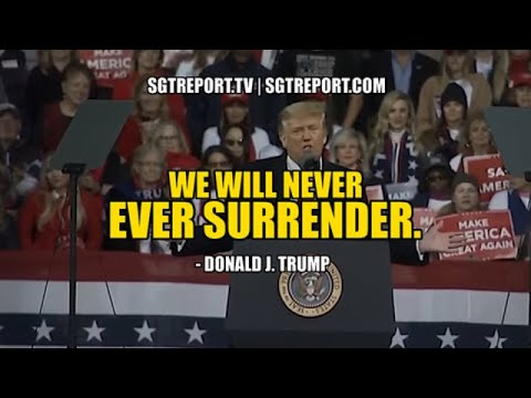 "OUR NATION IS AT WAR: ""WE WILL NEVER EVER SURRENDER."" - DONALD J. TRUMP"