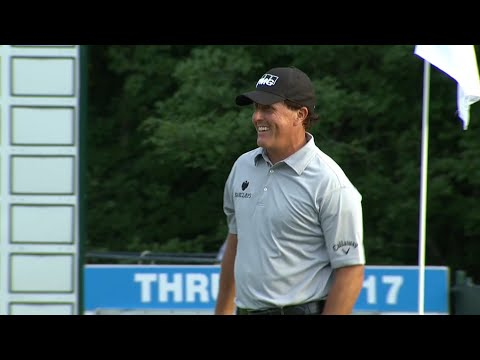 Phil Mickelson's all-time best flop shots