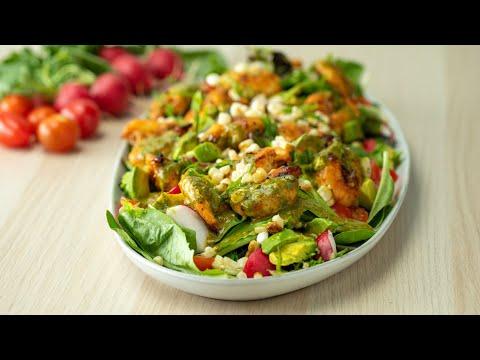 Honey Lime Grilled Shrimp Salad ?Tasty