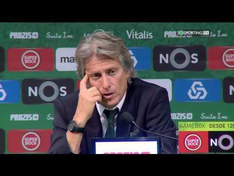 Conferência Jorge Jesus - pós Jogo - Sporting CP x Marítimo - 13 agosto de 2016 - Sporting TV
