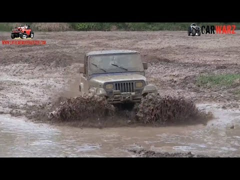 Little Blue Jeep Mudding At Nightmare Racing Mud Bog 2018