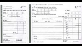 axis bank deposit form download  IN-How to Fill Axis Bank Deposit Slip - YouTube
