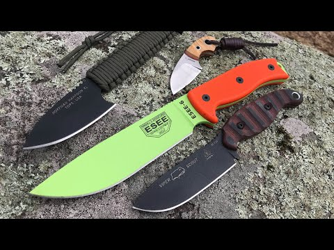 4 Strange Knives - 1 ESEE, 2 TOPS, and 1 BOKER: Do They Work?  Let's See